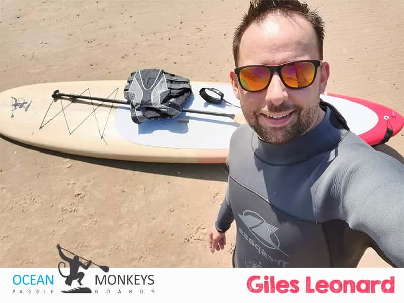 Giles Leonard enjoy his Ocean Monkeys Paddle Board