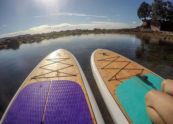 Emperor Two Eva Decks Turquoise and Purple - Ocean Monkeys Paddle Boards